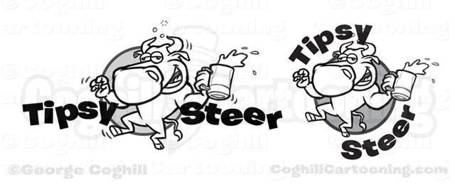 tipsy-steer-drunk-bull-cartoon-logo-sketches-coghill