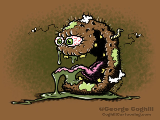 Plagued Potato Cartoon Character Sketch Coghill