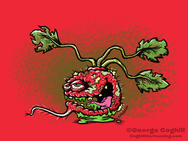 Rancid Radish Food Vegetable Lowbrow Cartoon Character Sketch