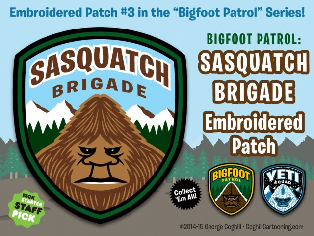 Sasquatch Brigade Embroidered Patch Kickstarter