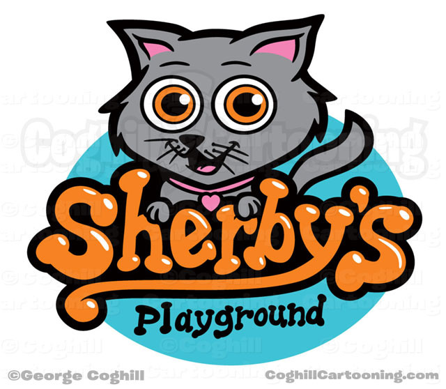 Cart Cartoon Logo Sherbys Playground Coghill