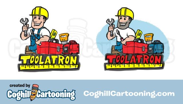 construction-worker-tools-cartoon-logo-toolatron-sketches-coghill