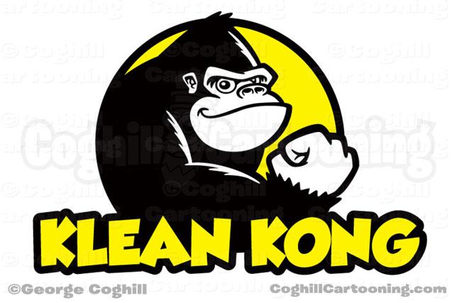 Gorilla Cartoon Logo Klean Kong Coghill