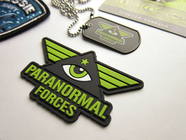 Cryptid Command Paranormal Forces Pvc Emblem & dog tag