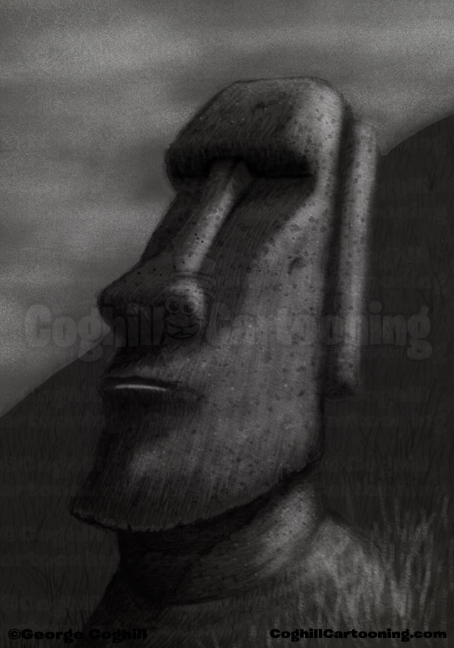 Easter Island Moai Drawing Coghill