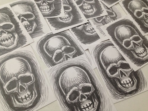 Ghost Guard skull Sketch Card Preview
