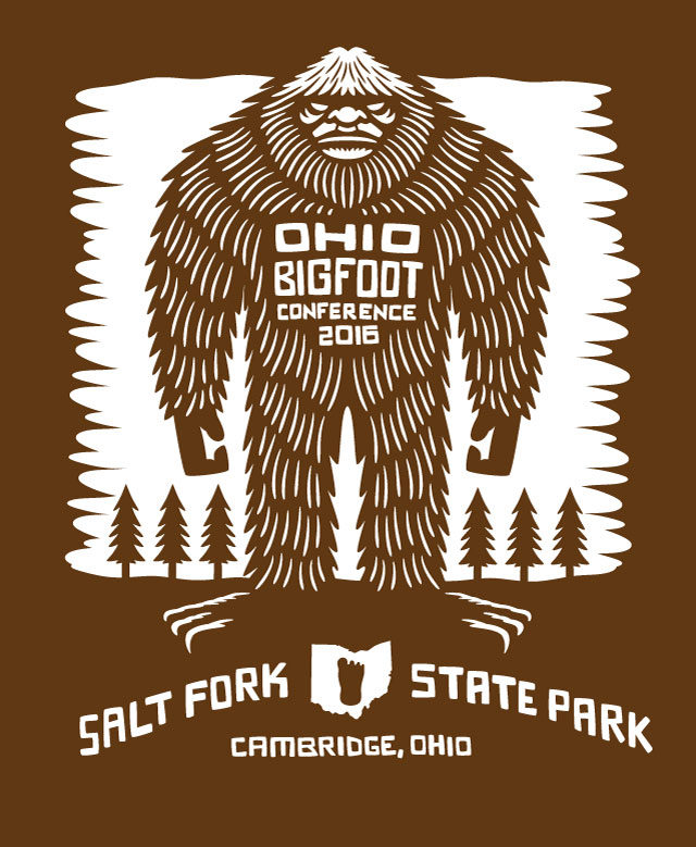 Ohio Bigfoot Conference T Shirt 2016 artwork
