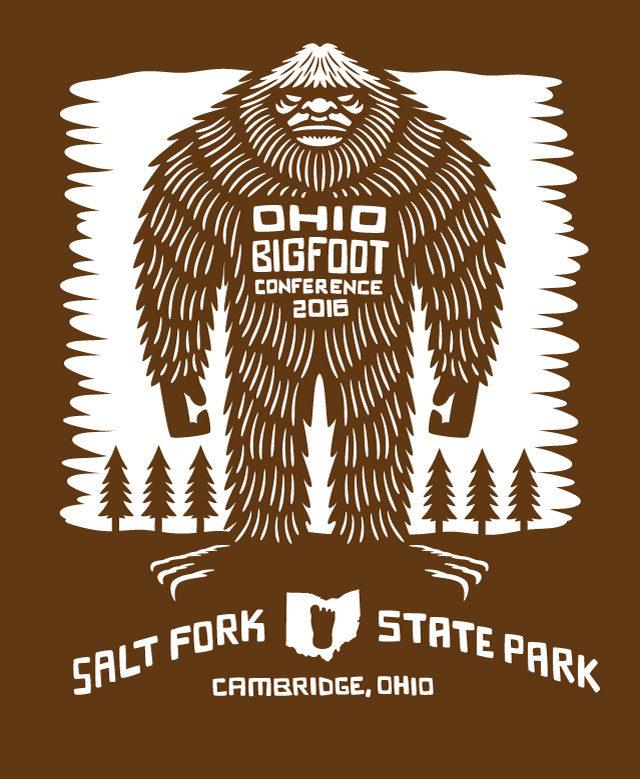 Ohio Bigfoot Conference T Shirt 2016 artwork