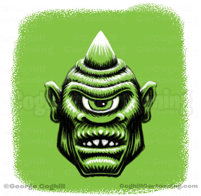 Cyclops Limited Palette Monster Head Sketch Coghill