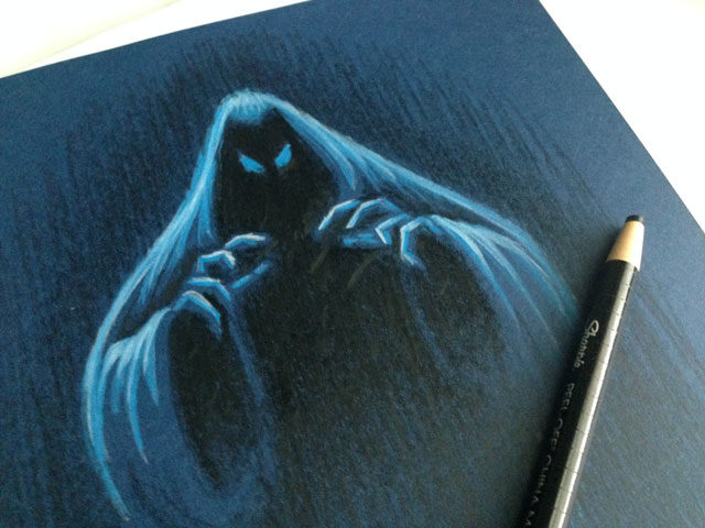 phantom-colored-pencil-drawing-ghost-guard-kickstarter-coghill