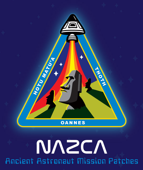 Nazca ancient astronaut mission patch Easter Island