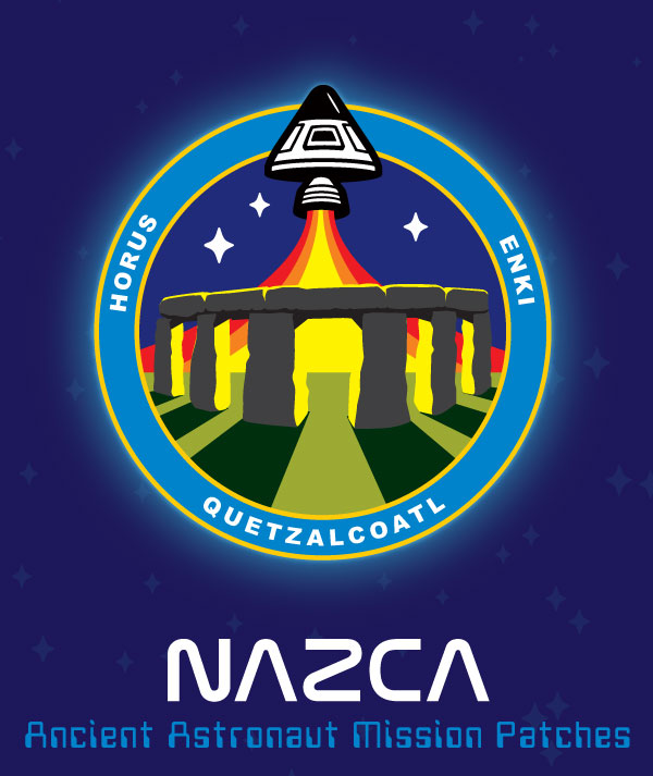 Nazca ancient astronaut mission patch Stonehenge