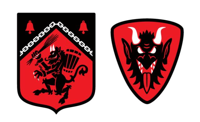 Krampus Kickstarter Heraldic Shield Patches