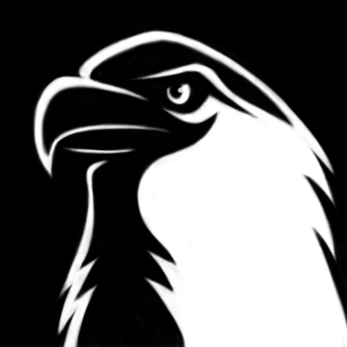 Stylized eagle icon illustration