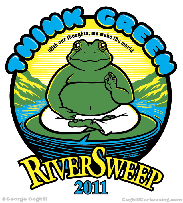 T-shirt illustration for Ohio Canal Corridor's River Sweep 2011