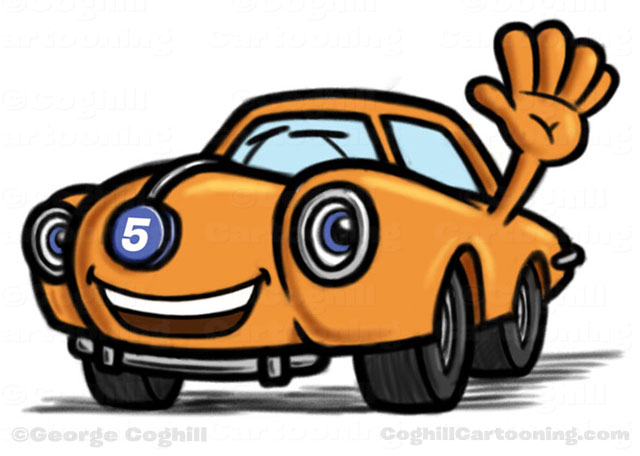 Car/Automobile Cartoon Character for Fast 5 Xpress by George Coghill