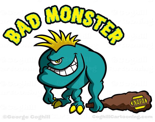 Cartoon monster character art