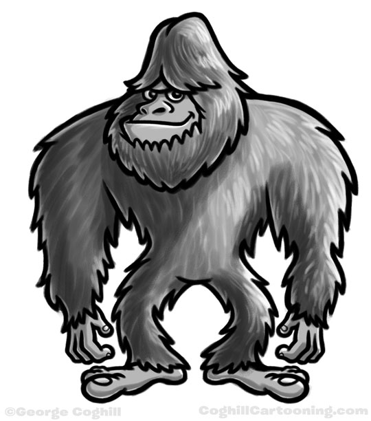 Bigfoot Yeti Sasquatch cartoon character sketch