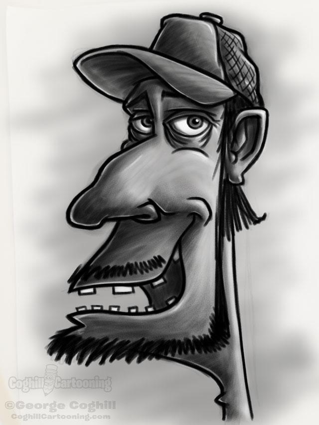 Redneck 1 Cartoon Character Sketch