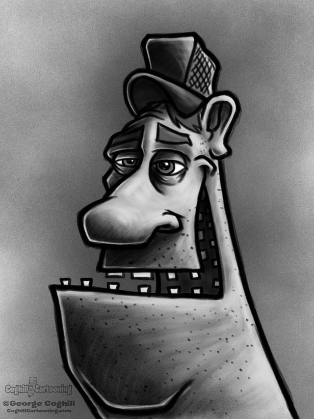 Redneck 5 Cartoon Character Sketch