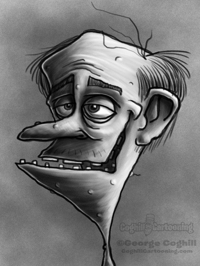 Redneck 6 Cartoon Character Sketch