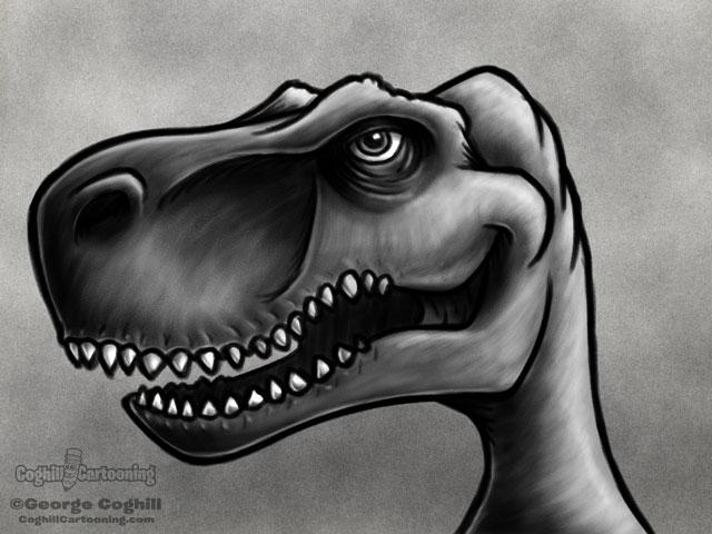 Dinosaur 2 - T-Rex Cartoon Character Sketch