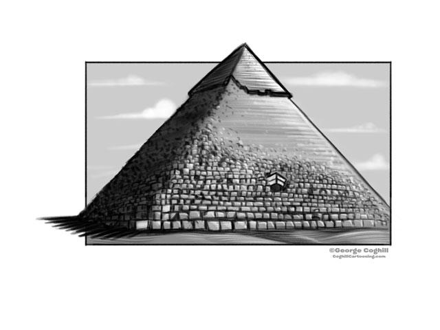 Great Pyramid of Giza Cartoon Sketch