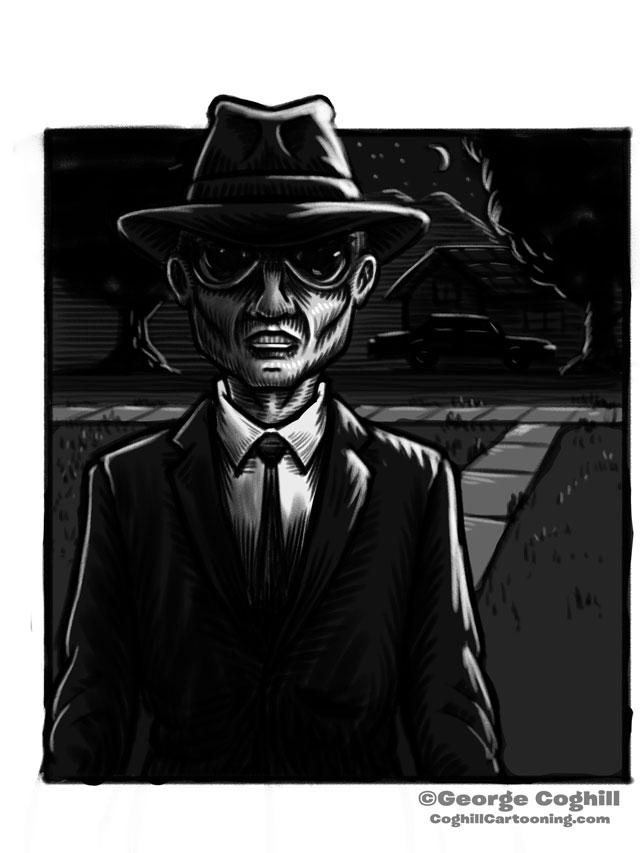 Men In Black Cartoon Character Sketch