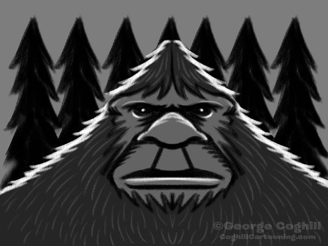 Bigfoot Head Classic - Rough Sketch 02