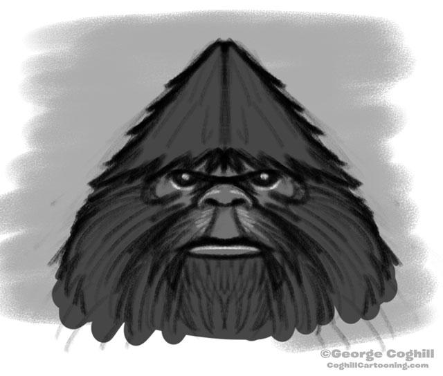 "Bigfoot Head ""Classic"": Rough Sketch 04"