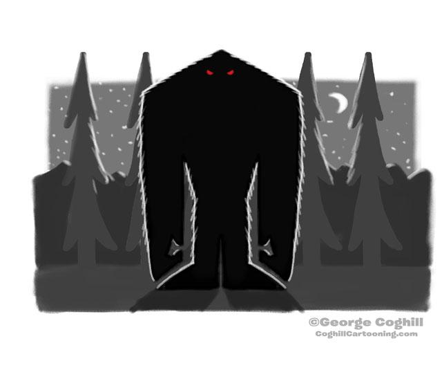 Bigfoot Minimalist Sketch 01