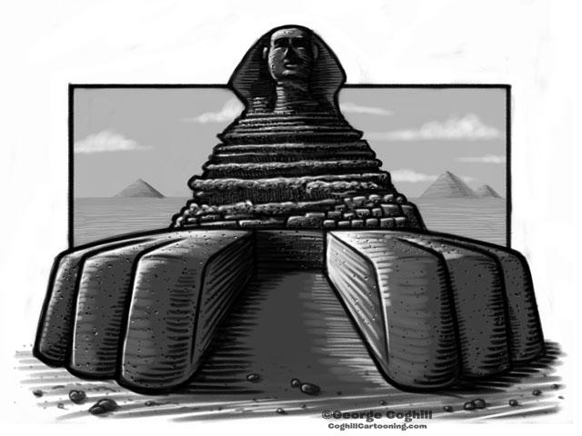 Sphinx Cartoon Sketch 2
