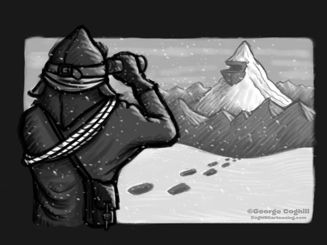 Discovery Of The Yeti Lair cartoon sketch