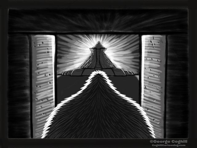 """Yeti Lair: Inner Quest"" Cartoon Sketch"