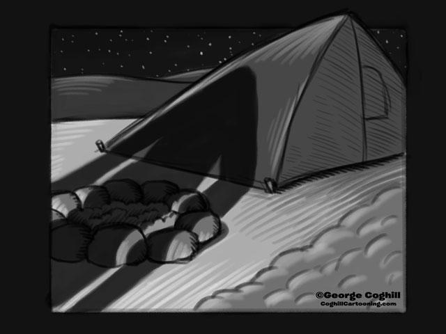 """Yeti Lair: Midnight Creeper"" Cartoon Sketch"