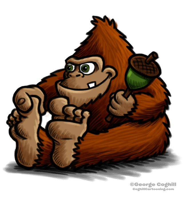 Baby Bigfoot Cartoon Character Sketch