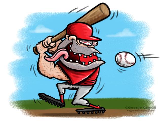 Baseball Player Hot Rod Cartoon Character Sketch 2