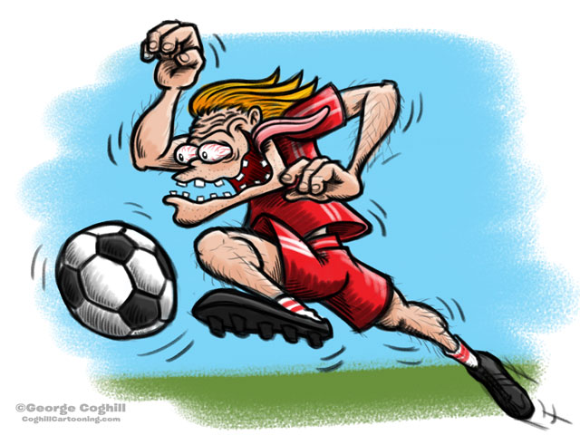 Soccer Hot Rod Cartoon Character Sketch