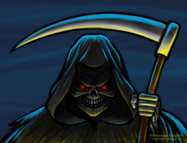 Grim Reaper Cartoon Character Sketch