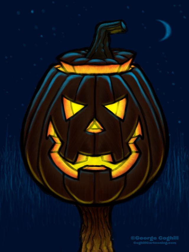 Jack O' Lantern Cartoon Character Sketch