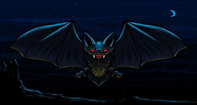 Vampire Bat Cartoon Character Sketch