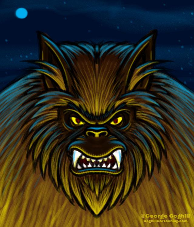 Werewolf Cartoon Character Sketch 01