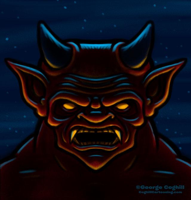 Demon Cartoon Character Sketch