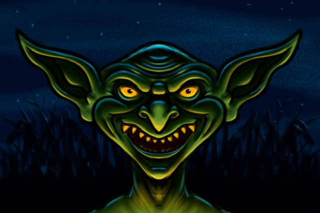 Goblin Cartoon Character Sketch