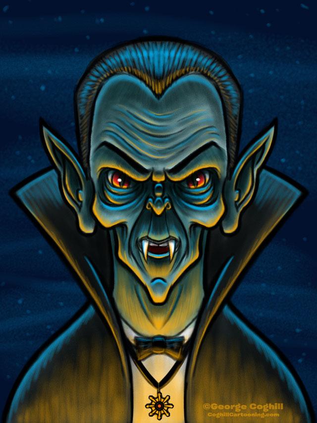 Vampire/Dracula Cartoon Character Sketch 02