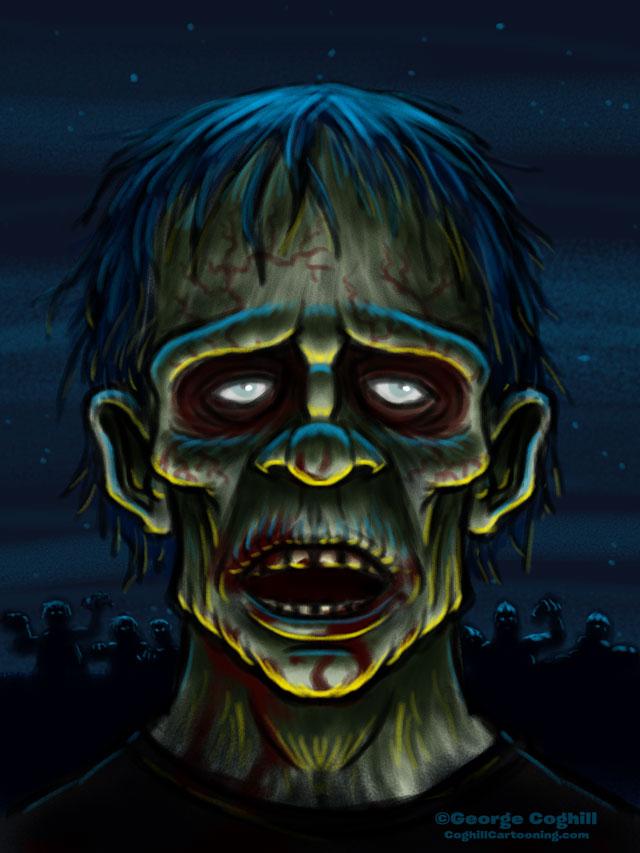 Zombie Cartoon Character Sketch