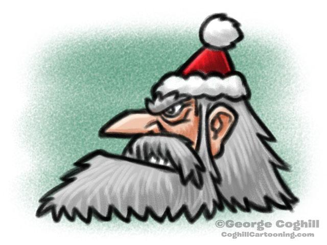 Angry Santa Cartoon Character Sketch Coghill