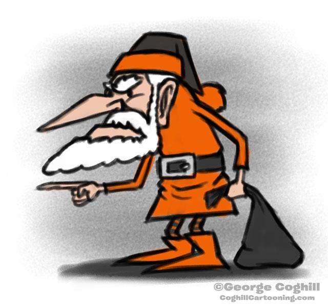 Halloween Santa Cartoon Character Sketch Coghill