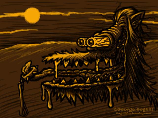 Monster Head Hot Rod Werewolf Sketch