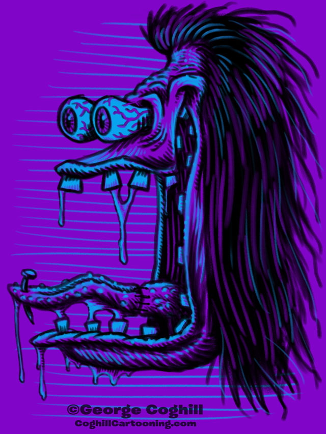 Monster Head Limited Palette Sketch 02 Coghill